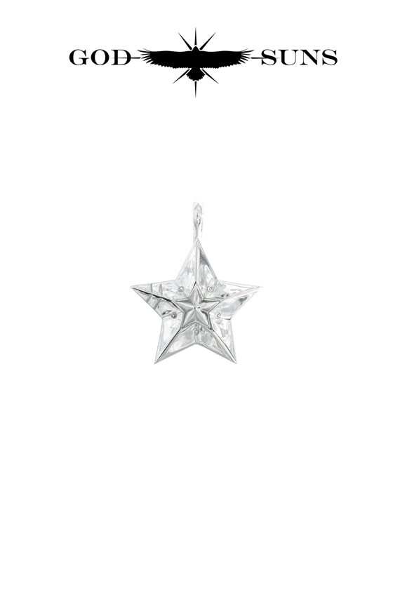 DOUBLE LINE STAR PENDANT(Medium)