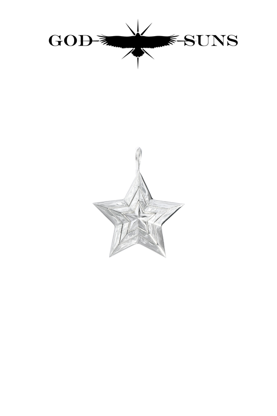 TRIPLE LINE STAR PENDANT(Medium)