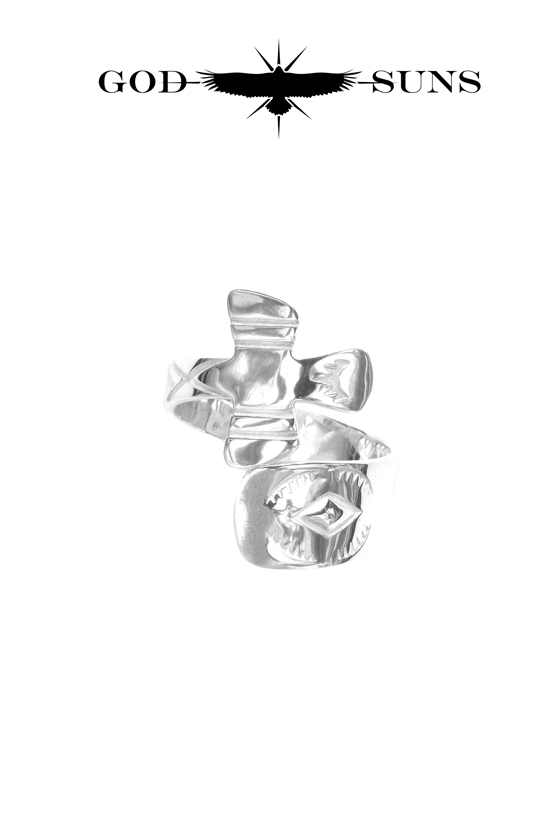 HUMMER CROSS RING(Large)