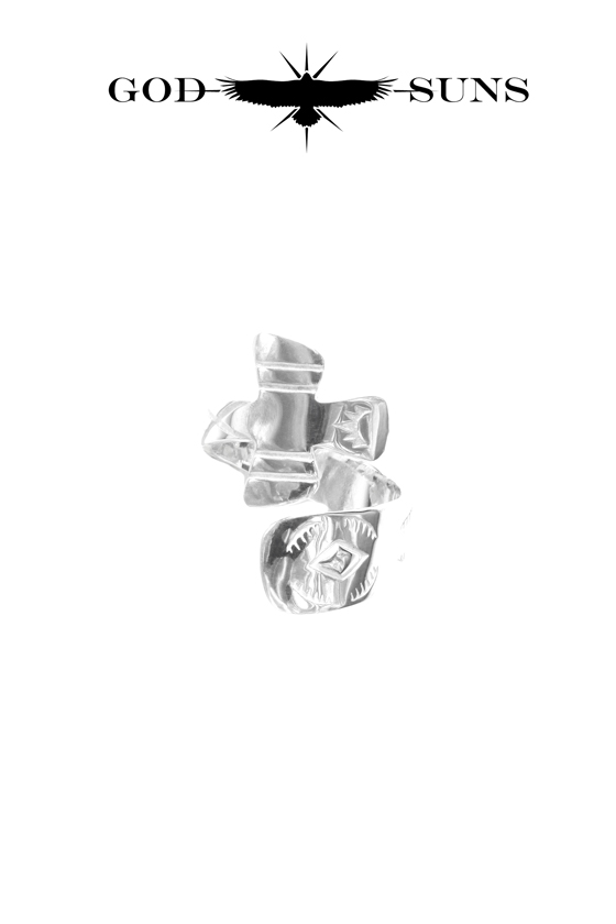 HUMMER CROSS RING(Medium)
