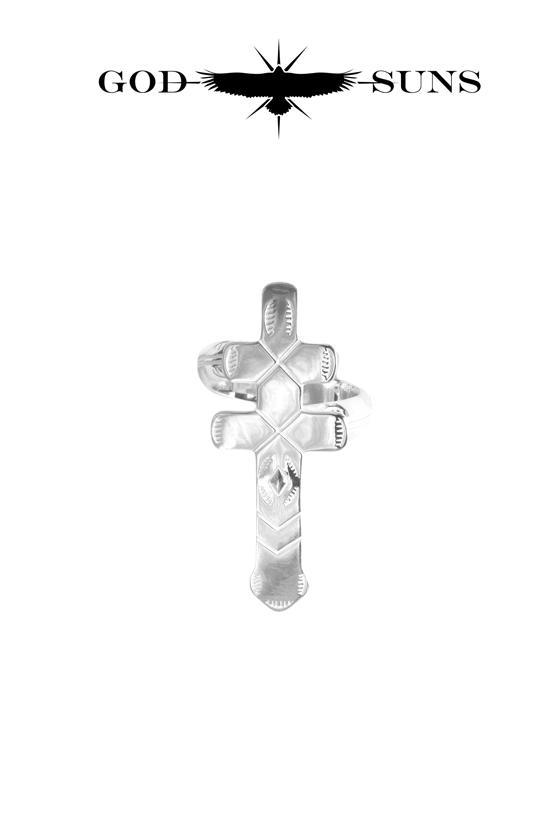 DRAGONFLY CROSS RING(Medium)