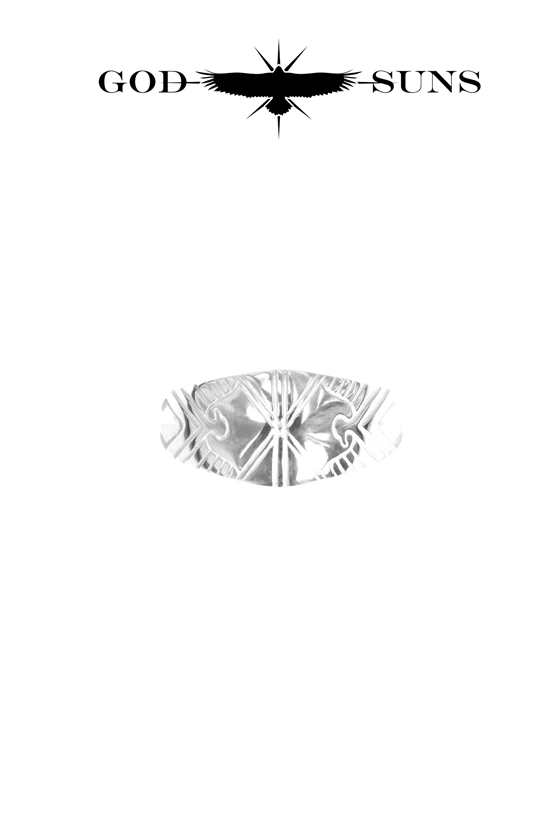 ALIGHT EAGLE CROSS RING(Large)