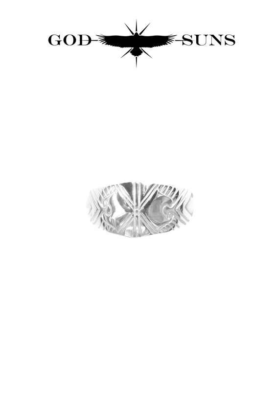 ALIGHT EAGLE CROSS RING(Medium)