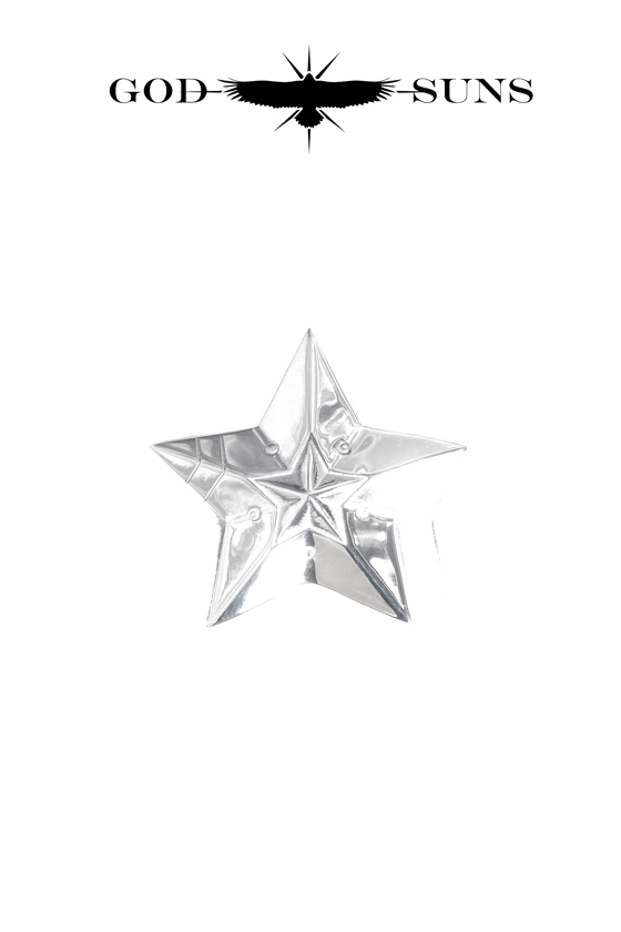 DOUBLE LINE STAR RING(Large)
