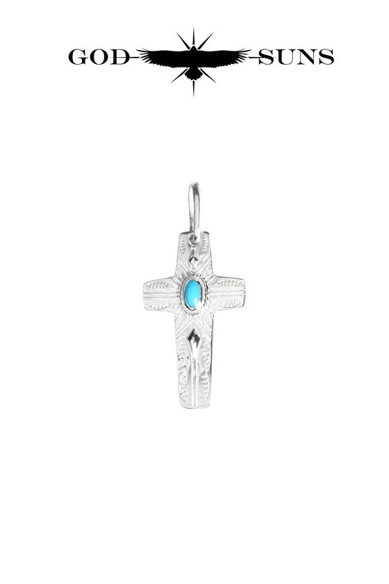 FLAP EAGLE CROSS TQ  PENDANT(small)