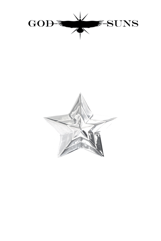 TRIPLE LINE STAR RING(Medium)